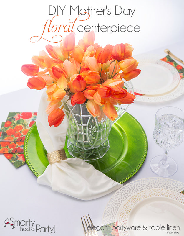 DIY Mothers Day Floral Centerpiece | www.SmartyHadAParty.com