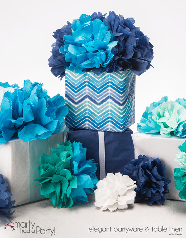 Decorate with Paper Napkin Flowers | www.SmartyHadAParty.com