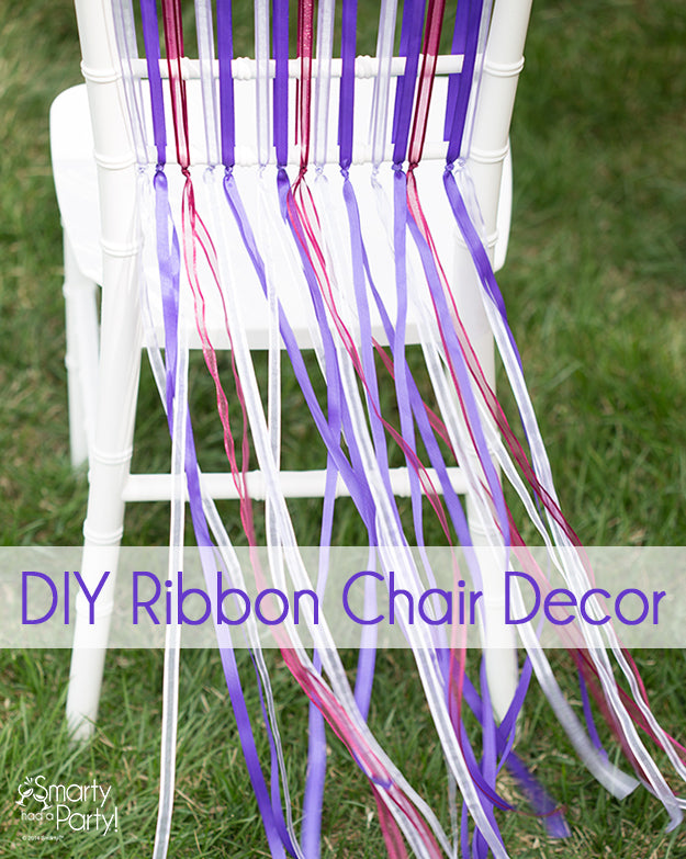 DIY Ribbon Chair Decor | Smarty Had A Party