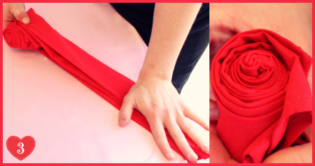 DIY Valentine's Day Romantic Rose Napkin Folding Step 3 by #SmartyHadAParty