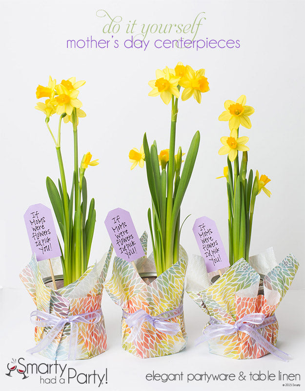DIY Mother's Day Centerpieces | www.SmartyHadAParty.com