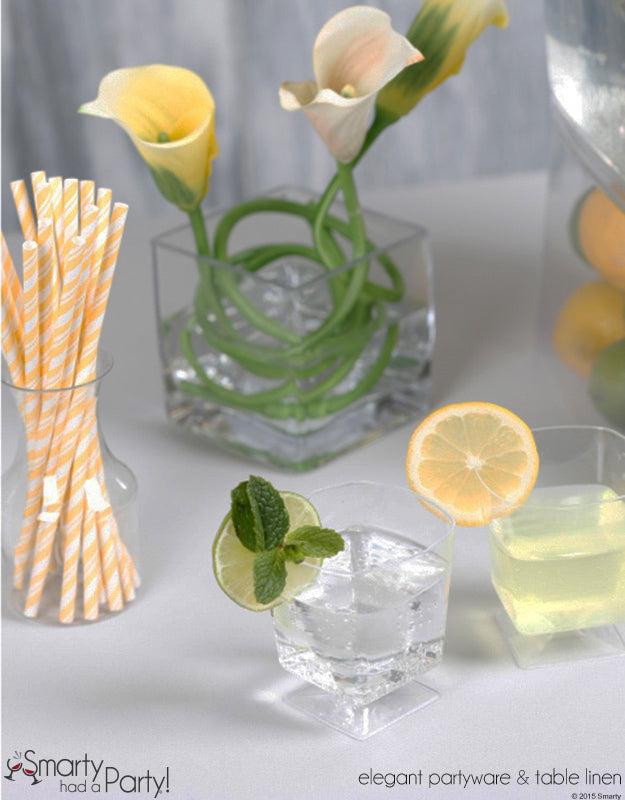 Hard lemonade and mojitos are the perfect addition to any summer drink bar! | www.SmartyHadAParty.com