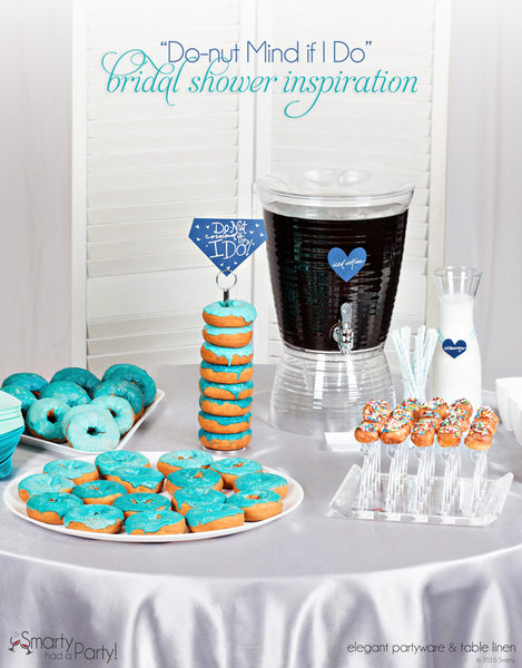 Do-nut Mind If I Do! A donut bar bridal shower is sure to be a bride-pleaser! | SmartyHadAParty.com