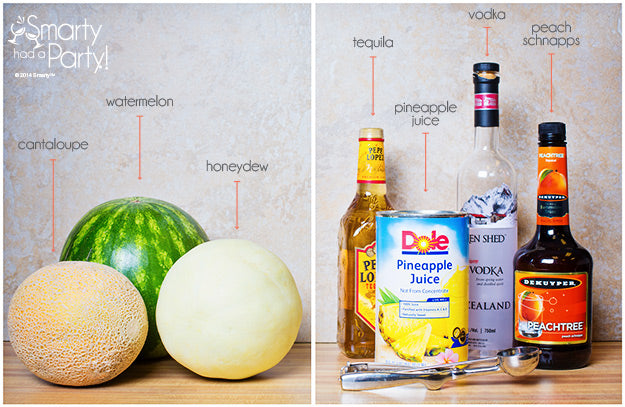 Ingedients to make Drunken Melon Balls | Smarty Had A Party