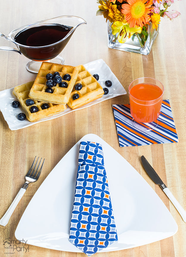 Father's Day Place Setting that's just right for Dad! | Smarty Had A Party