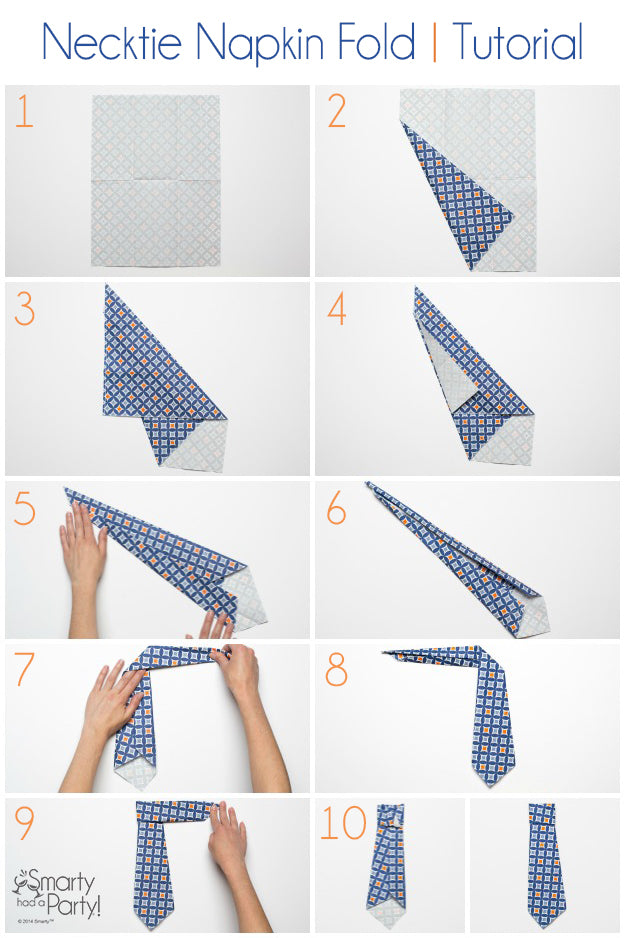 How to fold a necktie napkin! Perfect for Father's Day | Smarty Had A Party