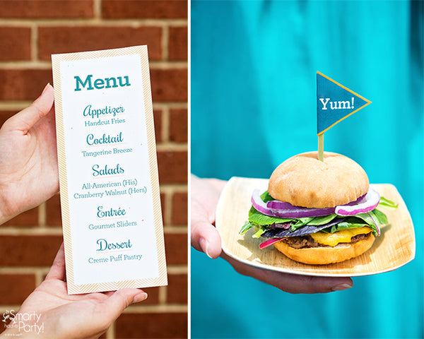 Food Truck Style Menu Card and Gourmet Sliders! {printables} | Smarty Had A Party