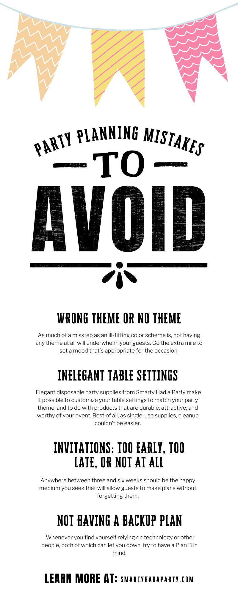 Party Planning Mistakes To Avoid