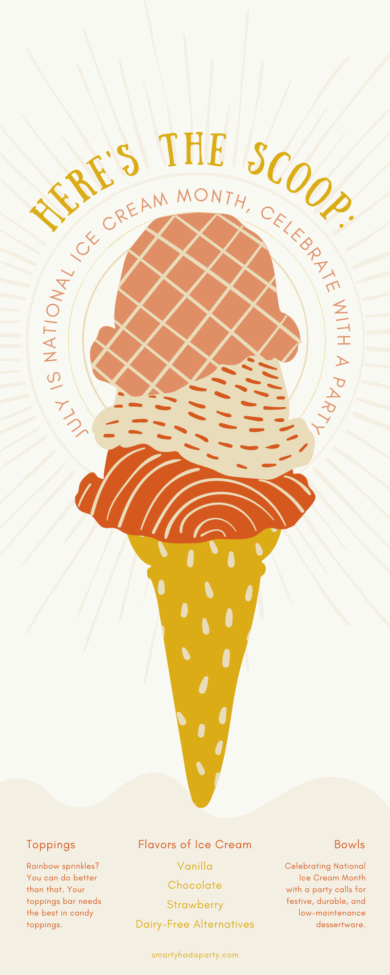 Here's the Scoop: July Is National Ice Cream Month, Celebrate With a Party