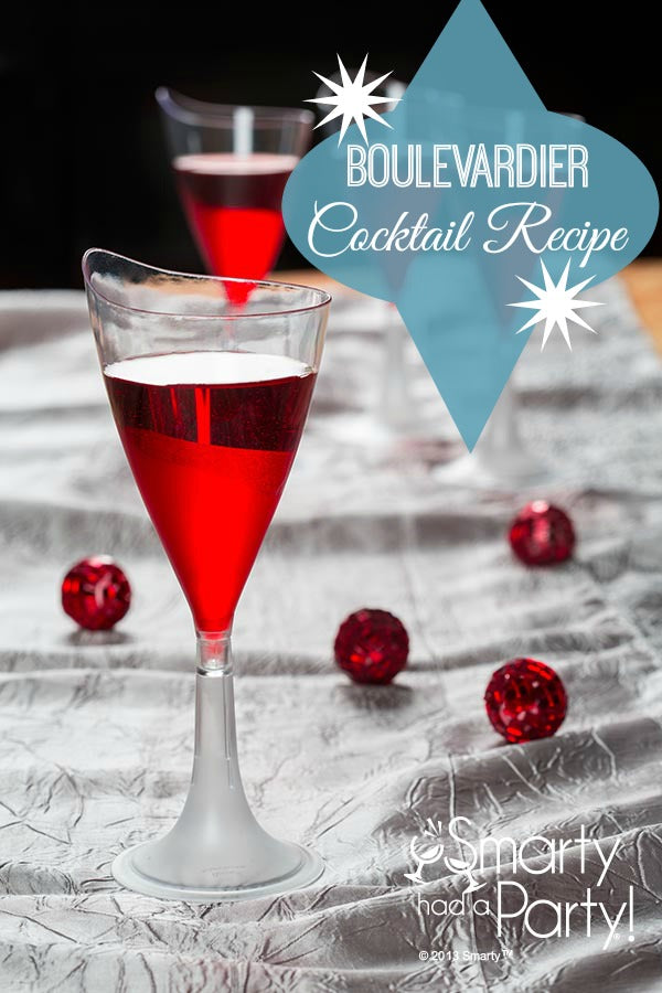 Boulevardier cocktail recipe from #SmartyHadAParty