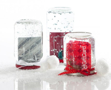 DIY Gift Card Snow Globes from #SmartyHadAParty