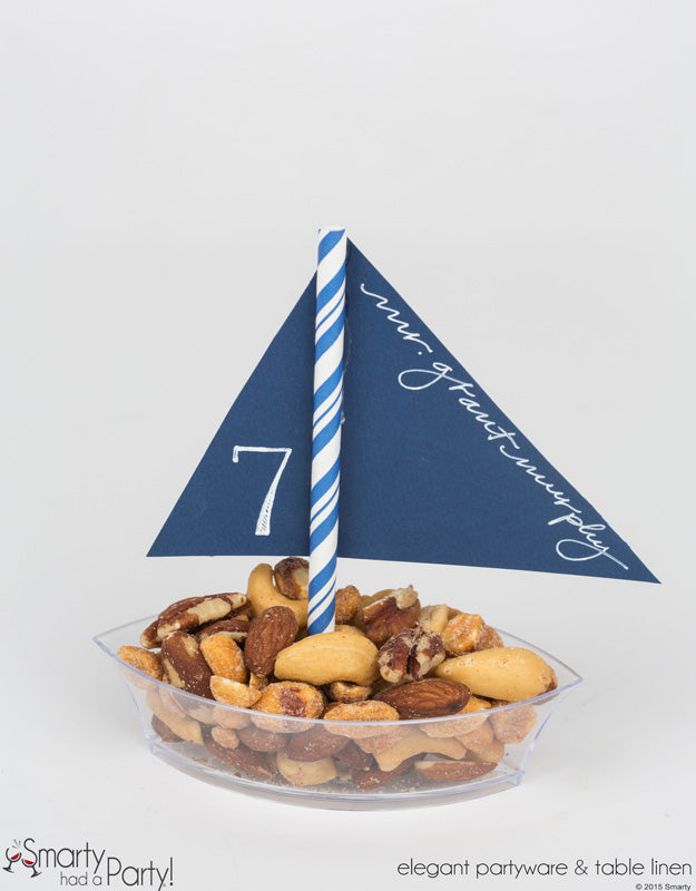 The finished placecard snackboat. | www.SmartyHadAParty.com