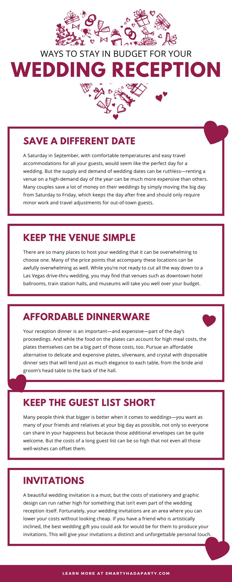 Ways To Stay in Budget for Your Wedding Reception
