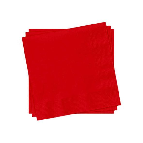 Red Paper Cocktail Napkins