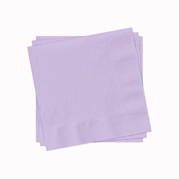 Lavender Paper Cocktail Beverage Napkins