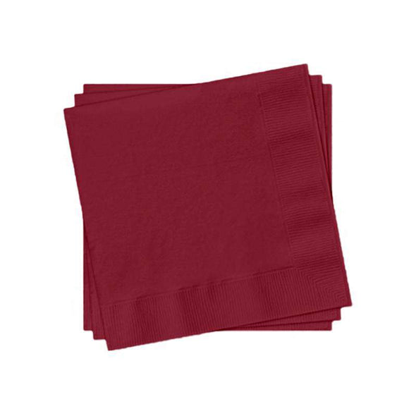 Dark Burgundy Red Paper Cocktail Napkins
