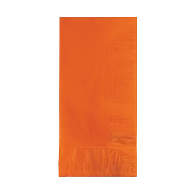 Sunkissed Orange Paper Dinner Napkins