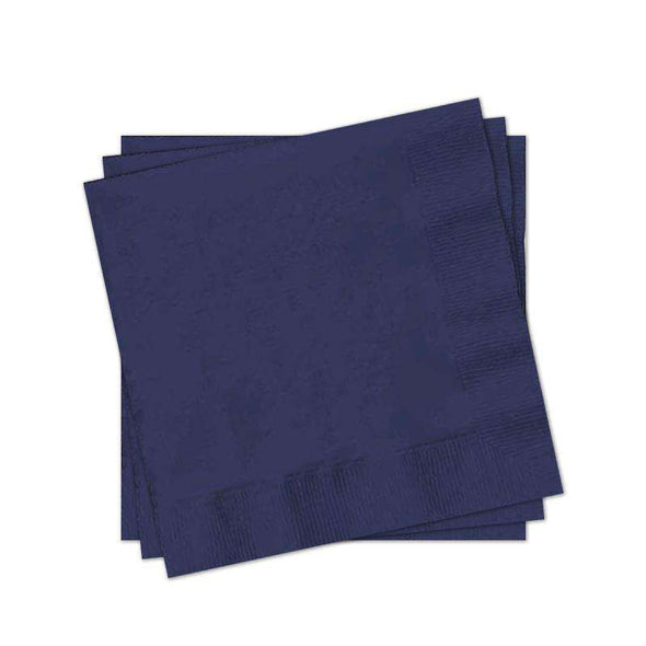 Navy Blue Paper Cocktail Napkins