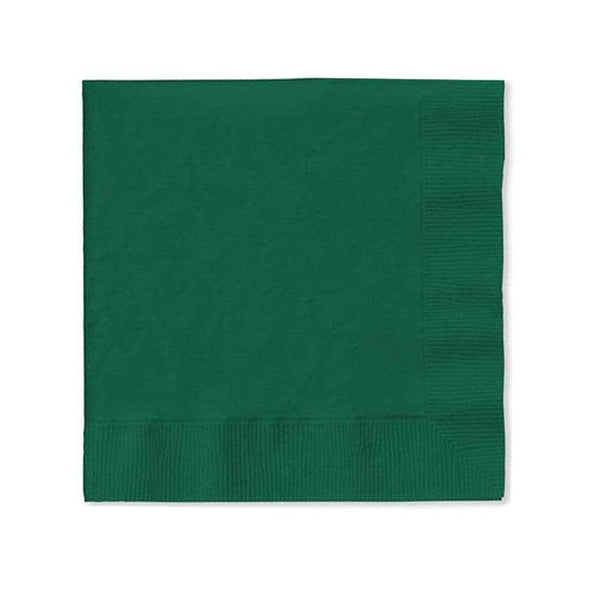 Hunter Green Paper Cocktail Napkins