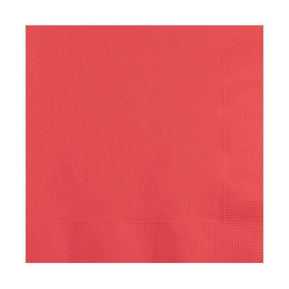 Coral Cocktail Disposable Paper Napkins