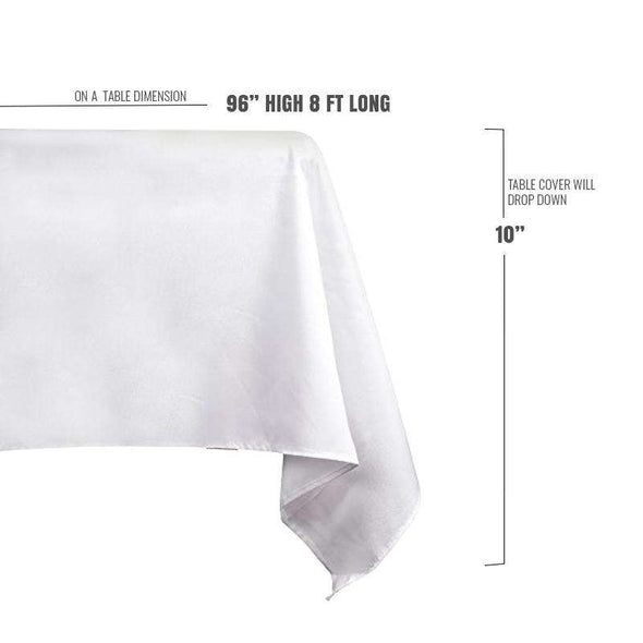 Disposable White Rectangular Linen-Like Wedding Tablecloths