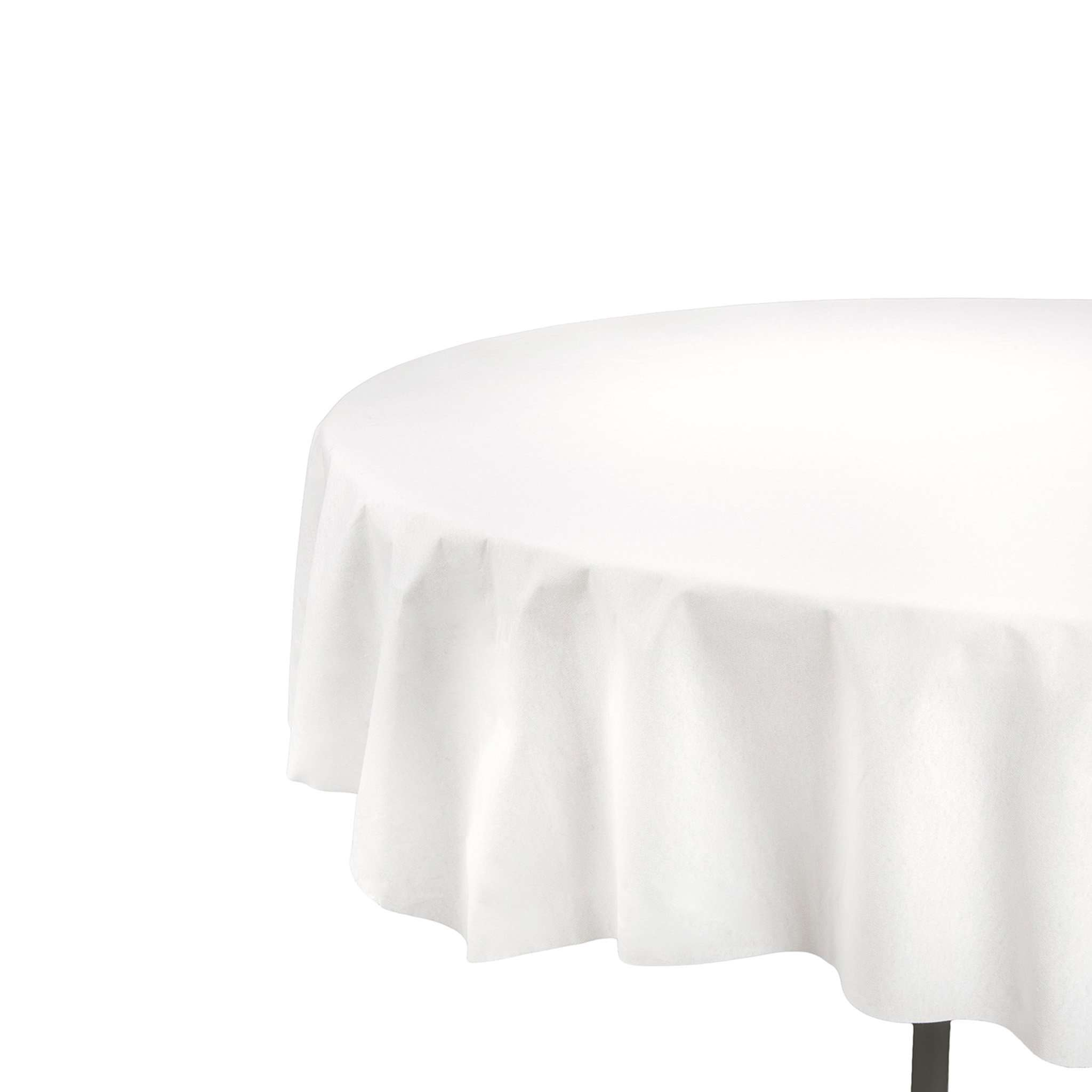 82\  White Octy Round Linen-Like Tablecloths  sc 1 st  Smarty Had A Party & Disposable Tablecloth - White Octy Round Linen-Like Tablecloths ...