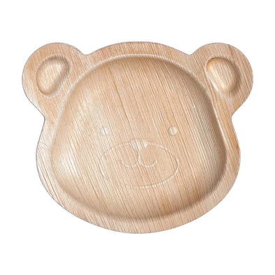 "9"" Bear Natural Palm Leaf Eco-Friendly Disposable Trays"