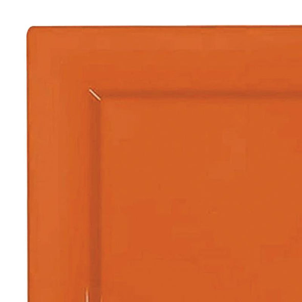 6.5 Burnt Orange Square Plastic Cake Plates
