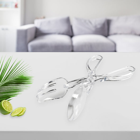 Clear Disposable Plastic Serving Salad Scissor Tongs