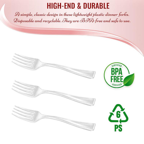 Clear Mini Plastic Disposable Tasting Forks