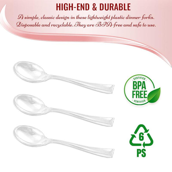 Clear Mini Plastic Disposable Tasting Spoons