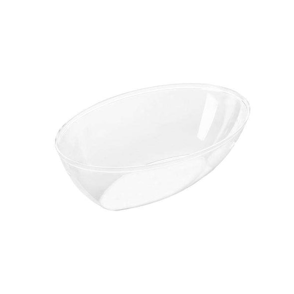 2 qt. Clear Oval Plastic Serving Bowls