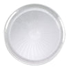 "12"" Clear Pavilion Round Disposable Plastic Trays"