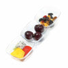 Clear Rectangular 3-Hole Mini Plastic Bowls