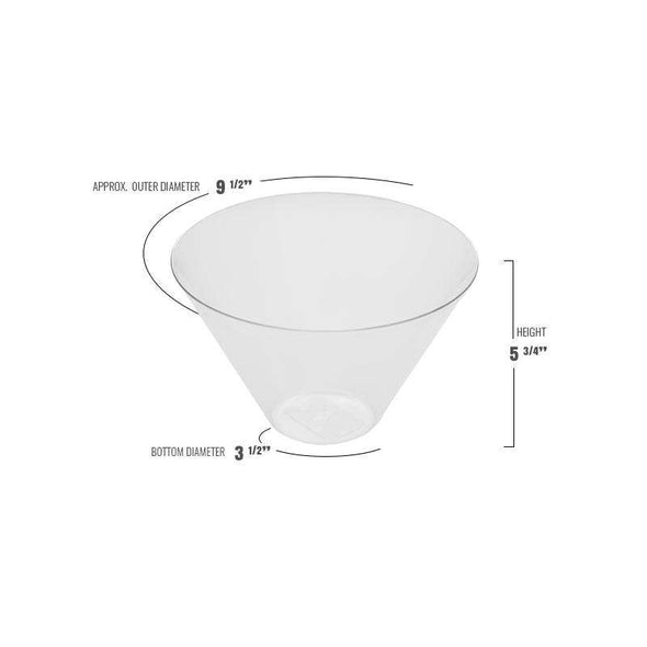 96 oz. Clear Round Plastic Serving Bowls