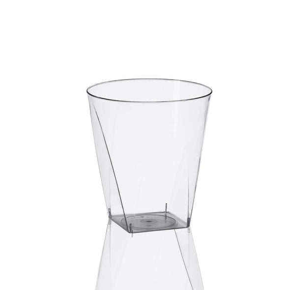 2 oz. Clear Square Bottom Disposable Plastic Shot Cups