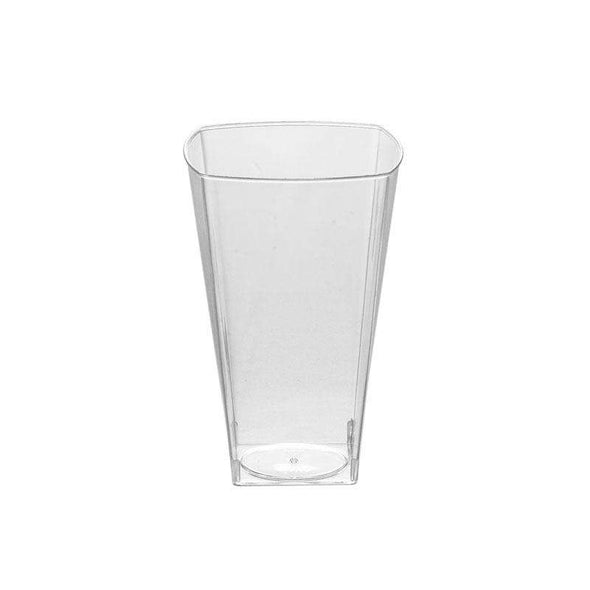 10 oz. Clear Square Plastic Cups