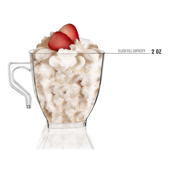 2 oz. Clear Square Plastic Mini Coffee Tea Cups