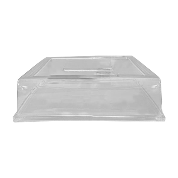 "12"" Clear Square Tray Disposable PET Lids"