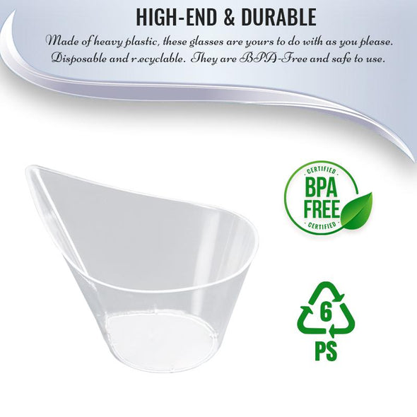 4.375 Clear Teardrop Disposable Plastic Cups