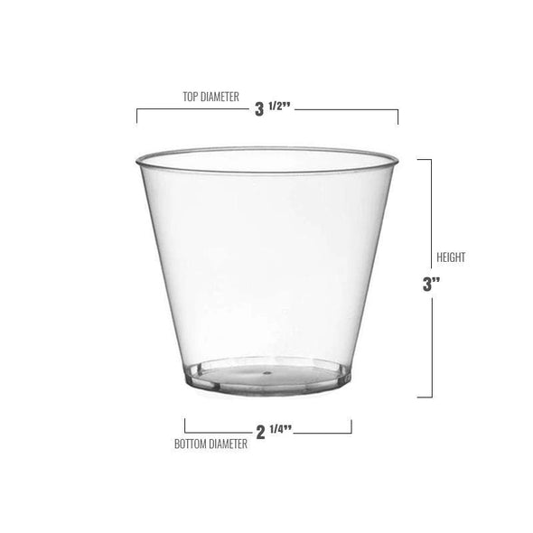 9 oz. Crystal Clear Plastic Disposable Party Cups