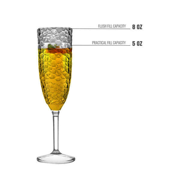 Crystal Disposable Plastic Champagne Flutes Capacity