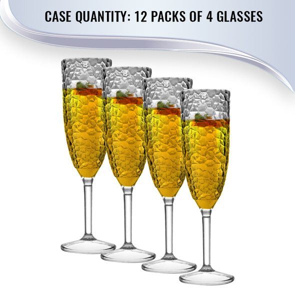 Crystal Disposable Plastic Champagne Flutes Quantity
