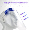 Clear Professional Protective Face Shield Mask with Elastic Band and Comfort Sponge