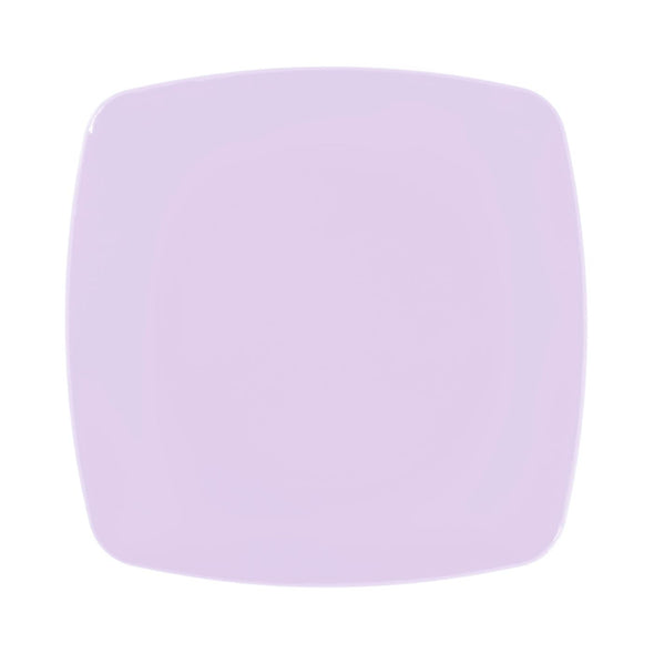 "5.5"" Lilac Rounded Square Renaissance Plastic Pastry Plates"
