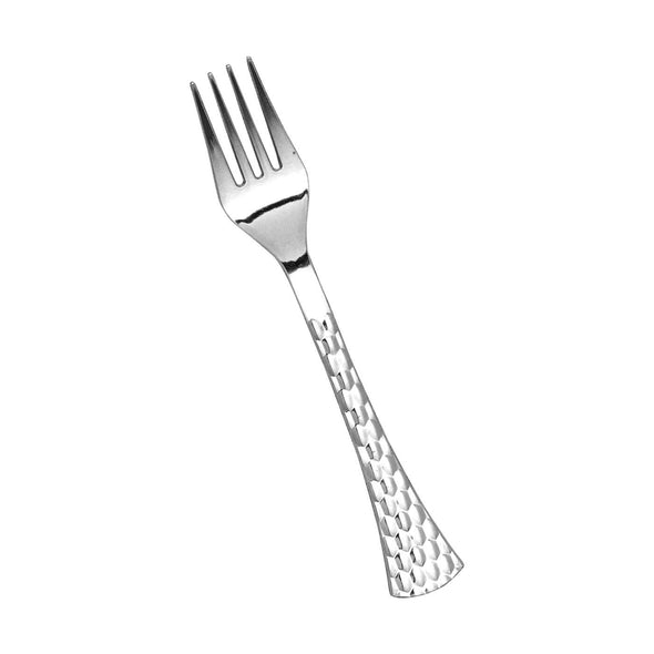 Shiny Silver Glamour Cutlery Disposable Plastic Forks