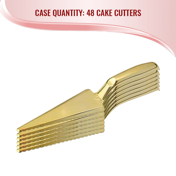 Shiny Gold Disposable Plastic Cake CutterLifter Quantity