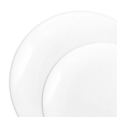 Solid-White-Organic-Round-Disposable-Plastic-Dinnerware-Value-Set