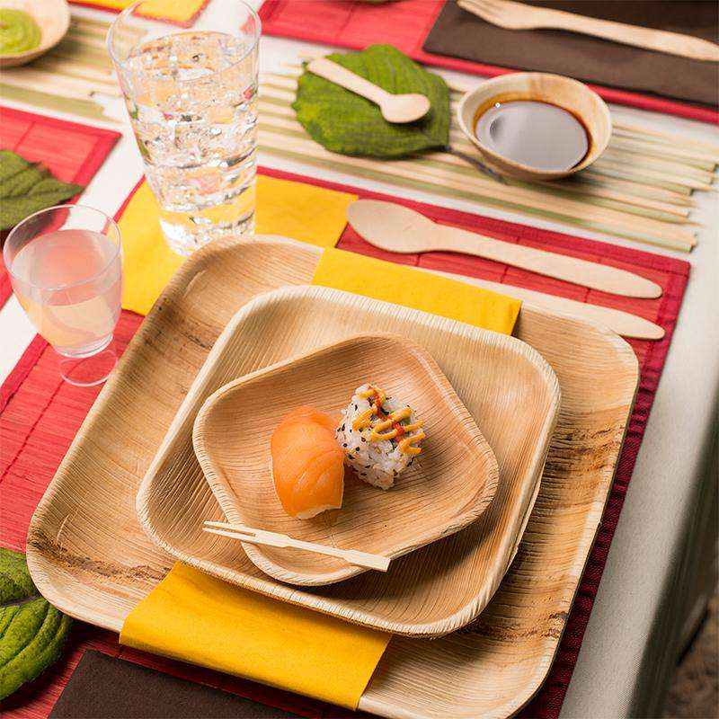 Eco Friendly Plate Palm Leaf Dinnerware Set Smarty Had A Party