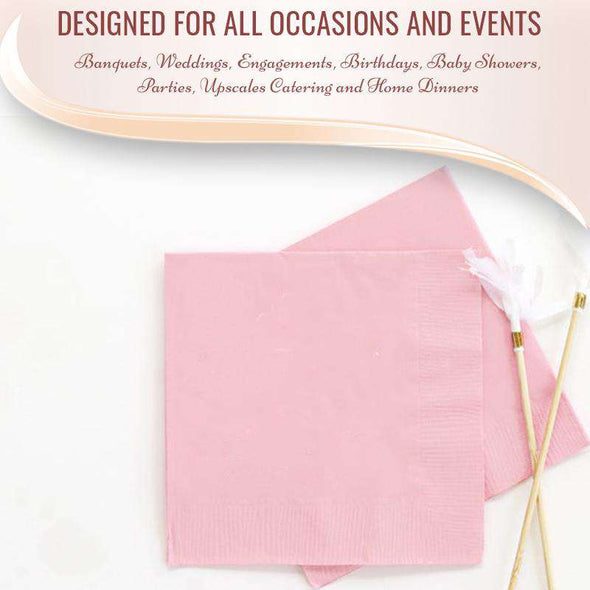 Baby Pink Cocktail Beverage Napkins